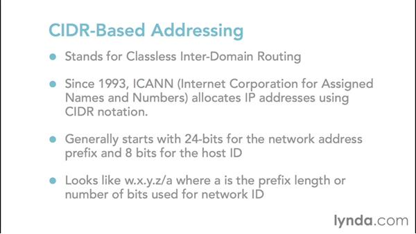 Using IPv4 classless addressing: Foundations of Networking: IP Addressing