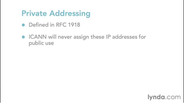 Comparing private, public, and IPv4 APIPA addressing: Foundations of Networking: IP Addressing