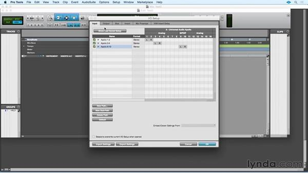 Configuring the Apollo with Pro Tools