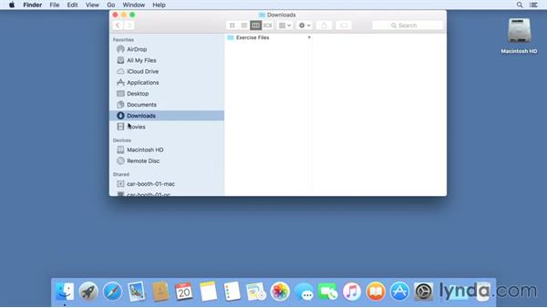 Using the exercise files: Mac OS X El Capitan Essential Training