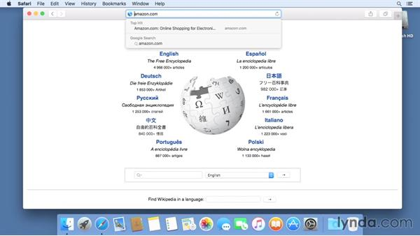 Browsing and searching the web: Mac OS X El Capitan Essential Training