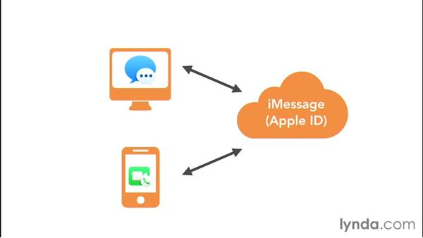 Using an Apple ID for iMessage or FaceTime: Mac OS X El Capitan Essential Training