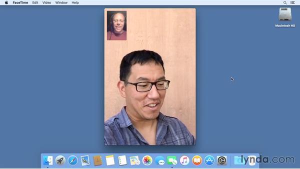 Using FaceTime for audio and video calls: Mac OS X El Capitan Essential Training