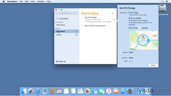Reminders: Mac OS X El Capitan Essential Training