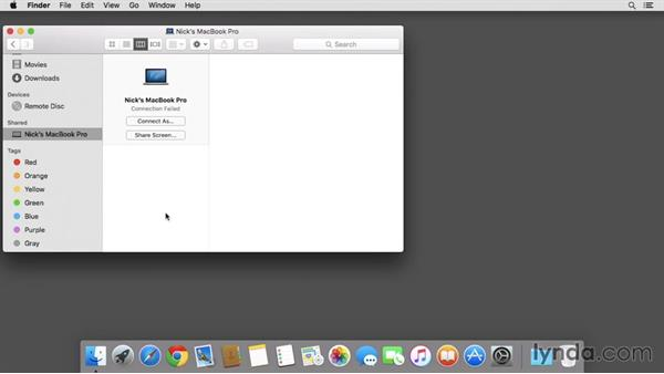 Sharing files, printers, and screen control over a local network: Mac OS X El Capitan Essential Training