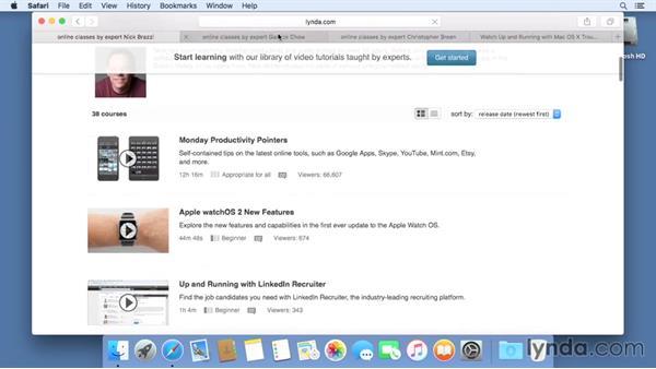 Next steps: Mac OS X El Capitan Essential Training