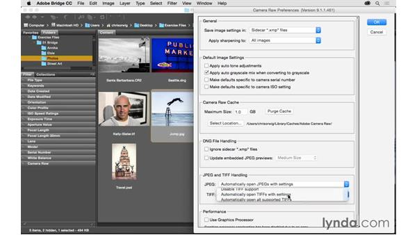 Opening non-raw files: Exploring Adobe Camera Raw: Workflow Power Tips