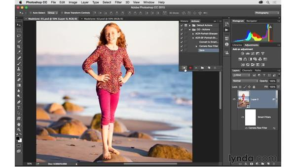 Creating and using a Camera Raw smart filter action: Exploring Adobe Camera Raw: Workflow Power Tips