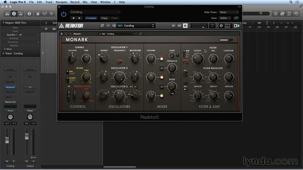 Using MONARK's presets and history: Advanced Instruments and Effects In REAKTOR