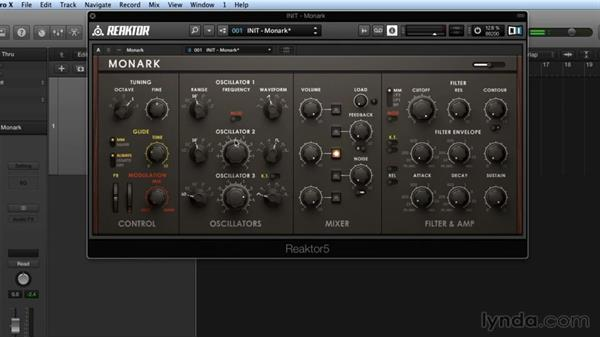 MONARK's modules and signal flow: Advanced Instruments and Effects In REAKTOR