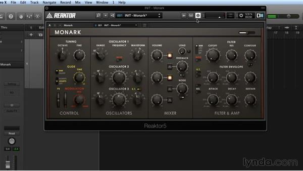 Filtering and modulation in MONARK: Advanced Instruments and Effects In REAKTOR