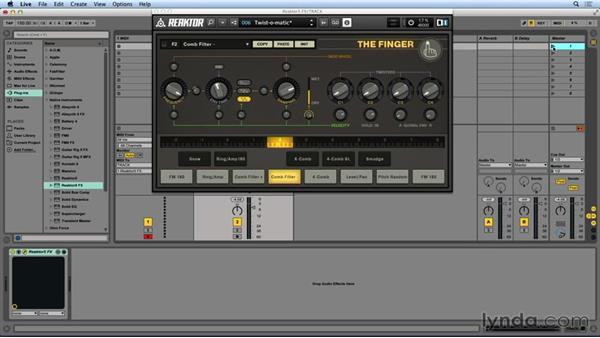 THE FINGER overview and control routing: Advanced Instruments and Effects In REAKTOR