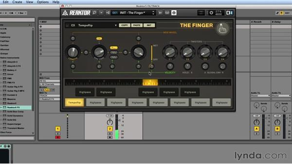 Exploring THE FINGER's FX types: Advanced Instruments and Effects In REAKTOR