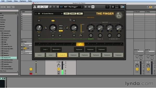 THE FINGER customization and modulation: Advanced Instruments and Effects In REAKTOR