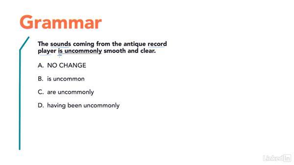 Question type: Grammar: Test Prep: ACT