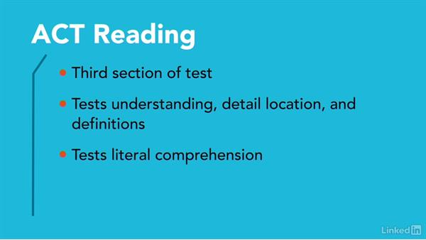 Overview of ACT reading questions: Test Prep: ACT