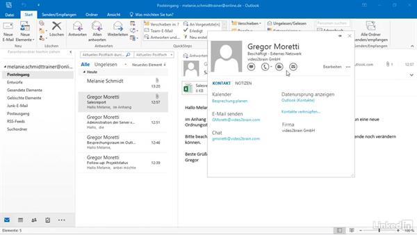 Kontakte Aus Microsoft Outlook übernehmen