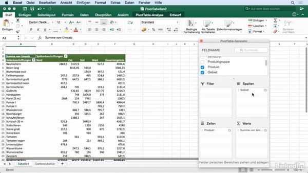 Eine Pivot-Tabelle umstellen