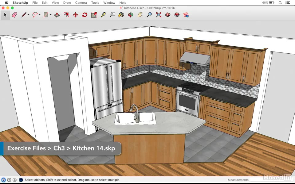 Animating A Camera To Visualize The Kitchen Sketchup Kitchen Design