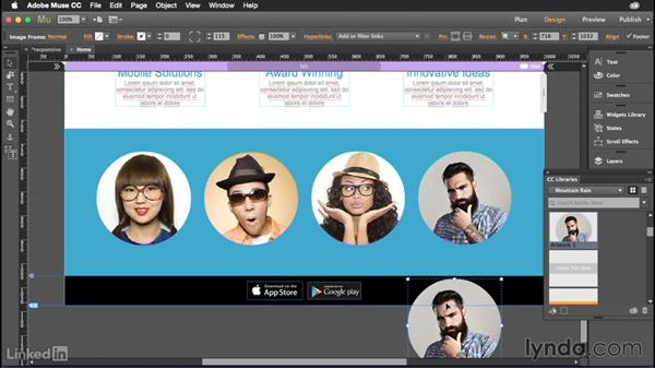 Working with CC Libraries in Muse: Muse: 2015 Creative Cloud Updates