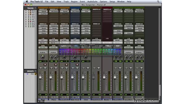 Utilizing the Color palette and window arrangements: Pro Tools 8 New Features