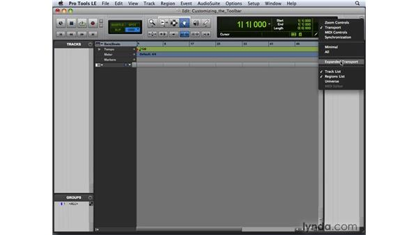 Customizing the Edit toolbar: Pro Tools 8 New Features