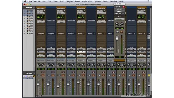 Exploring the Mix window and other window improvements: Pro Tools 8 New Features