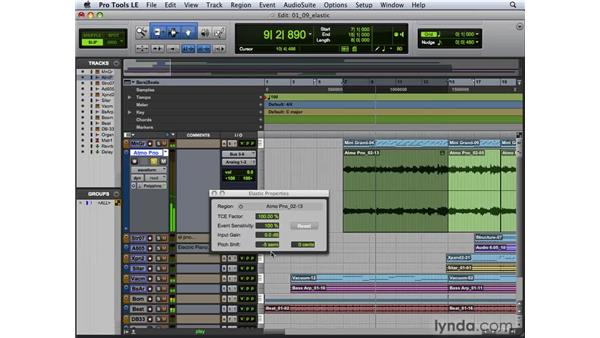 Applying Elastic Pitch: Pro Tools 8 New Features