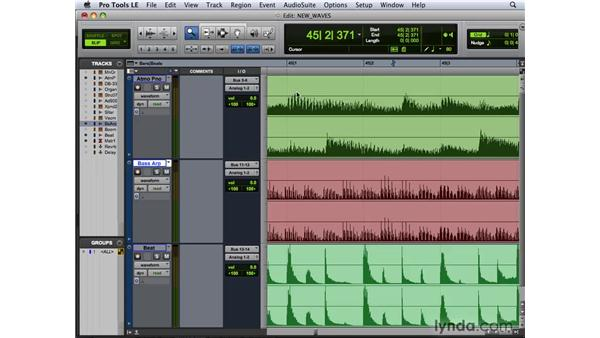 Viewing and using new wave form options: Pro Tools 8 New Features