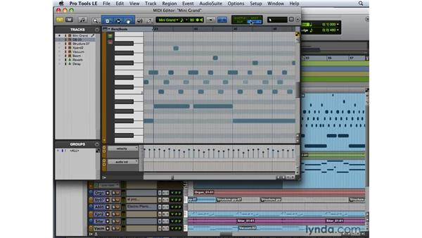 Using the MIDI Editor toolbar: Pro Tools 8 New Features