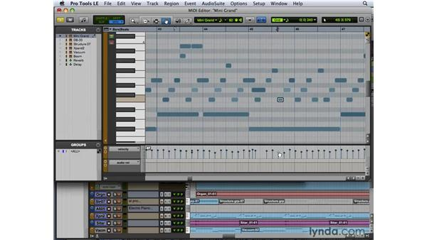 Editing with the MIDI Editor: Pro Tools 8 New Features