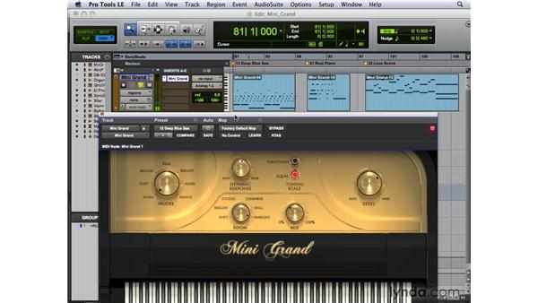 Making music with Mini Grand: Pro Tools 8 New Features