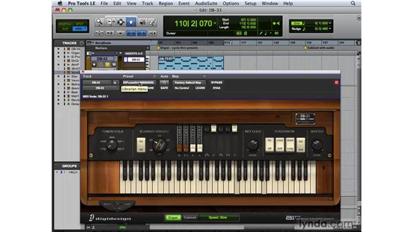 Making music with DB33: Pro Tools 8 New Features