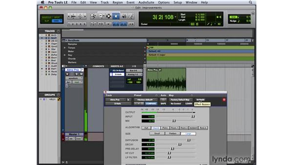 Identifying improvements to the Plug-In window: Pro Tools 8 New Features