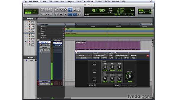 Adding EQ effects: Pro Tools 8 New Features