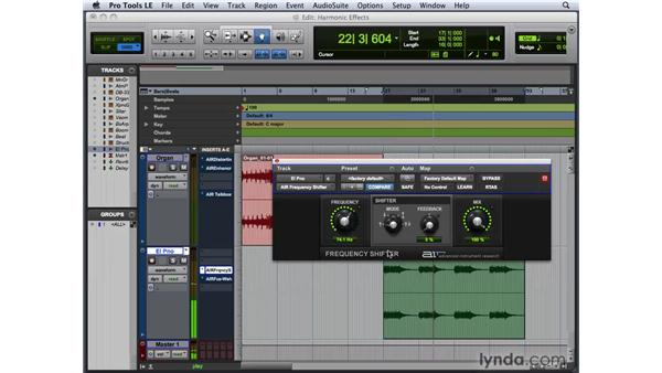 Sculpting harmonic effects: Pro Tools 8 New Features