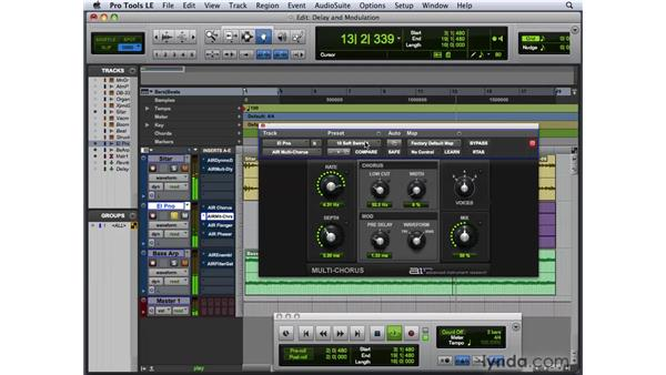 Creating delay and modulation effects: Pro Tools 8 New Features