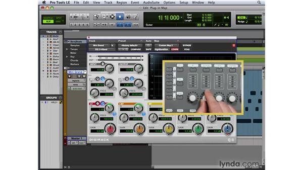 Creating a plug-in map for a Pro Tools controller: Pro Tools 8 New Features