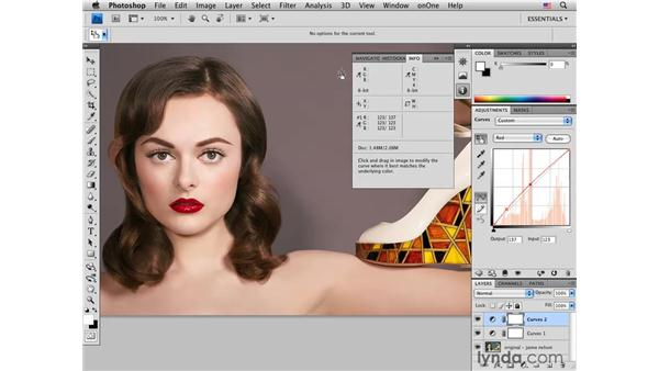 Fine-tuning color with curves: Photoshop CS4 Portrait Retouching Essential Training