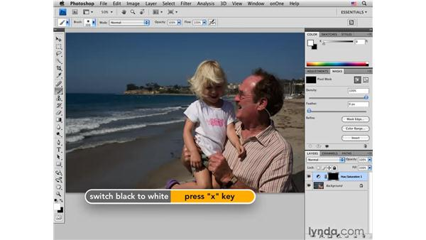 Reducing red skin tones: Photoshop CS4 Portrait Retouching Essential Training
