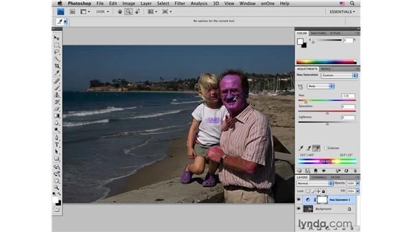 Correcting and enhancing skin colors: Photoshop CS4 Portrait Retouching Essential Training