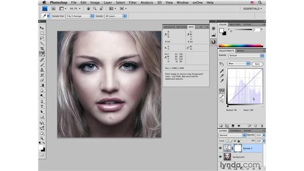 Color-correcting skin by the numbers: Photoshop CS4 Portrait Retouching Essential Training