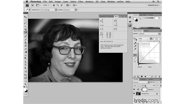 Color-correcting light skin tones: Female: Photoshop CS4 Portrait Retouching Essential Training