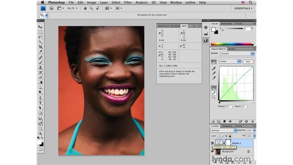 Color-correcting dark skin tones: Female: Photoshop CS4 Portrait Retouching Essential Training