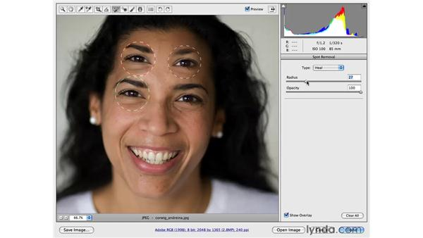 Deconstructing Clone and Heal spot removal: Photoshop CS4 Portrait Retouching Essential Training