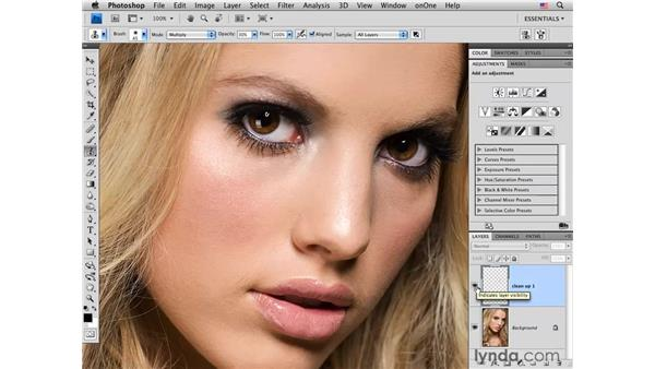 Reducing hot spots: Photoshop CS4 Portrait Retouching Essential Training