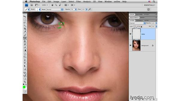 Taking notes on an image: Photoshop CS4 Portrait Retouching Essential Training