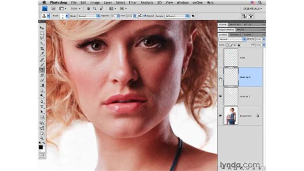 Improving the face: Photoshop CS4 Portrait Retouching Essential Training