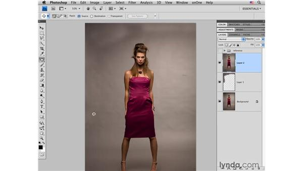 Cleaning up the background: Photoshop CS4 Portrait Retouching Essential Training