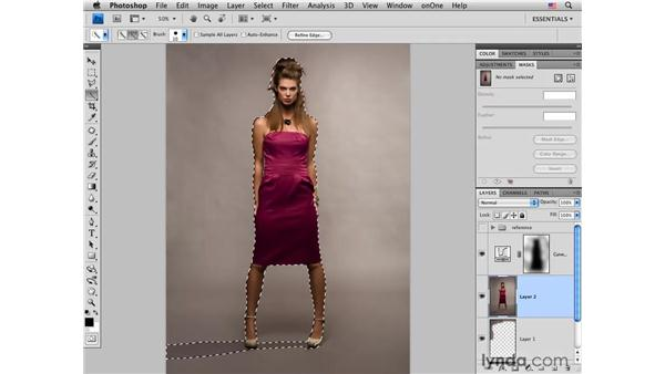 Improving background tone and texture: Photoshop CS4 Portrait Retouching Essential Training